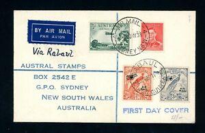 Australia 1933  via Rabaul  First Flight Cover         (A531)