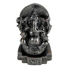 "GANESHA STATUE 3.75"" Hindu Elephant God Handcrfted Dark Resin India Ganesh NEW"