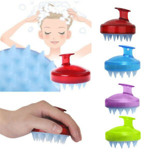 HOT Silicone Shampoo Scalp Shower Body Washing Hair Massage Massager Brush Comb