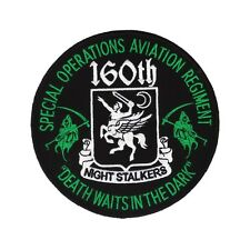 160th SOAR patch - Night Stalkers - Death Waits in the Night - US Special Forces