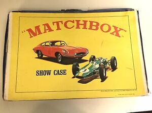 VINTAGE, 1966 MATCHBOX, LESNEY PRODUCTS CARRY CASE, APPROX 11 X 19, PLASTIC CARD