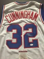 Autographed/Signed BILLY CUNNINGHAM Philadelphia White Basketball Jersey JSA COA