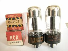 2 matched 1956-63 Sylvania/P/RCA 6AH4GT tubes-Hickok TV7D tests @ 81, 82, min:57