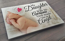 Personalised large white wooden plaque sign, In loving memory Daughter