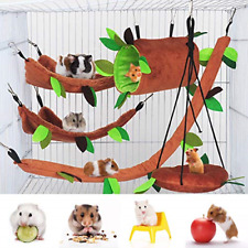5 Pcs Hamster Cage Guinea Pig Cage Accessories, Ferret Cage Toys Hammock, Bed