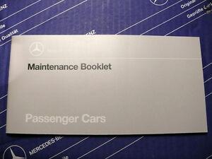 Genuine Mercedes Maintenance booklet W126, W124 NOS! NEW!