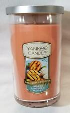 Yankee Candle GRILLED PEACHES & VANILLA Medium Perfect Pillar 1-wick New Wax