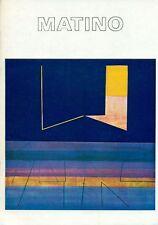 MATINO Vittorio, Plaquette di mostra, Milano, Galleria Morone, 6-26 marzo 1971