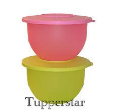 "Tupperware Junge Welle Set 2 X 1,3 Lit Behälter ""Anis/Pink"""