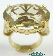 14k Yellow Gold Lemon Quartz Ring