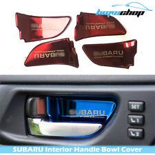 Interior Handle Bowl Cover Trim for Subaru Impreza WRX STI XV Red Chrome 12-18