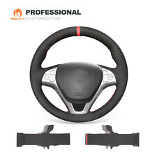 Black Synthetic Suede Car Steering Wheel Cover for Hyundai Genesis Coupe 2009