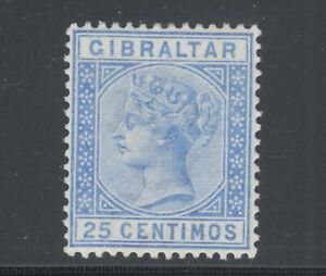 Gibraltar Sc 32 MLH. 1889 25c ultra Queen Victoria, F-VF
