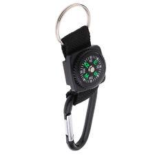 Outdoor Camping Climbing Compass Key Ring Carabiner Spring Snap Clip Hook