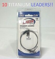 "10 Lazer Sharp 18""/30lb. 7 Strand Titanium Leaders (LTL3018-7) EB190103"