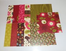 11 pieces Scrapbook Paper, 6x6, Whimsical, Bird, Lady Bug, Floral, Polka Dot