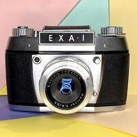 Stunning Exa Exacta I 35mm SLR Camera  & 50mm Lens Tested! Lomo Vintage Working