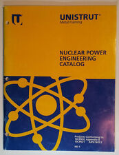 Unistrut Metal Framing Nuclear Power Engineering Catalog 1991 Load Data Specs