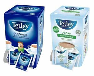Tetley Tea Bags Sachets - Individual Enveloped Tagged Tea Bags - 100% Black Tea
