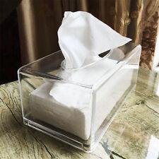 Clear Acrylic Tissue Box Paper Cover Convenient Home Bathroom Auto Storage Case