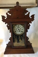 "Antique E. N. Welch 1890-1910 8-Day Kitchen Mantel Clock ""Serviced"""