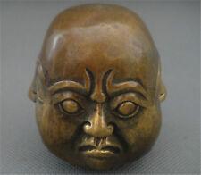 Détails sur Antique Excellent old bronze sculpté statue 4 Visage Humeur Bouddha 12 cm