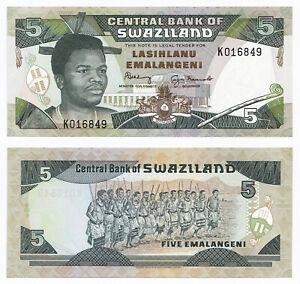 Swaziland, 5 Emalangeni 1994, Pick 19b, UNC, sign. 6