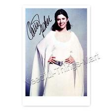 Carrie Fisher (†) Leia Organa - Autogrammfotokarte ca. 10x15cm laminiert [AK1]
