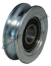 Puerta de desplazamiento rueda polea rueda 50mm Redondo Groove Acero Rueda R U Forma