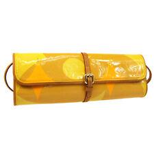 LOUIS VUITTON Vernis Pochette Fleur Shoulder Clutch Bag M91117 VI0030 S09761
