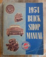 Original Vintage Classic Car Old 1954 BUICK SHOP MANAUL Auto Service Repair Book