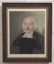 UNSIGNED PASTEL PORTRAIT OF DIGNIFIED MAN