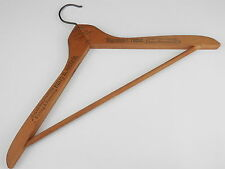 Vintage Harry Nichols Wood Hanger Merchant Tailor Bridgeport, CT
