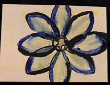 "ACEO original art card 2.5"" X 3.5"" One Of A Kind Mixed Media Signed By Artist!"