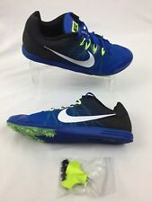 Nike Zoom Rival M 13 Track Field Sprint Spikes Shoes Sz 8.5 Blue Green 806555