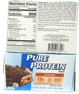 2 Packages Pure Protein Smores  20g Protein 6 Count Bar 10.56 Oz BB10-8-2021
