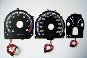 Honda Prelude 3 gen. glow gauges dials plasma dials kit tacho glow dash shift in