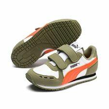 Puma Cabana Racer Sl V Ps Bambini Scarpe Sneaker 360732 Bianco Oliva