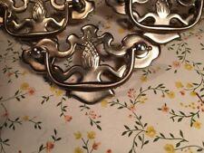 Three Chippendale Ornate Brass pulls Pinapple
