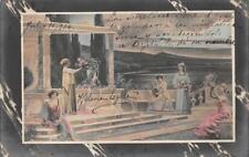 ALLEGORICAL MUSIC PERU TO CIUDAD MEXICO POSTCARD 1904