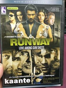 2 Indian Hindi movies - Runway / Kaante region 4 DVD (world / foreign movies)