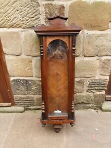 A GOOD QUALITY ROSEWOOD VIENNA WALL CLOCK CASE FOR SPARES OR REPAIR