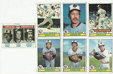 VINTAGE 1979 TOPPS Baseball CARDS – Baltimore Orioles-MLB
