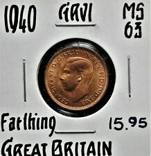 1940 Great Britain Farthing MS-63