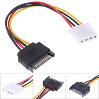 SATA TO IDE Power Cable 15 Pin SATA Male to Molex IDE 4 Pin Female Cable Adapter