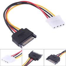 SATA TO IDE Power Cable 15 Pin SATA Male to Molex IDE 4 Pin Female Cable Adap-SL