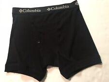 Columbia Boxer/ Briefs Underwear, NWOT, Medium,  Black, 100% Cotton