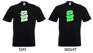 Glow In The Dark Frankenstein T-SHIRT Halloween Spooky Scary Party Gift Costume