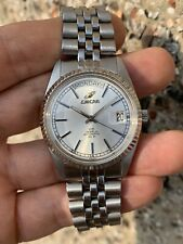 Vintage Enicar Day-date Automatic Mens Watch 36mm Steel Swiss