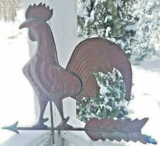 1950 Rooster weathervane red patina overlap seam